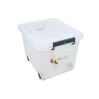 Conteneur alimentaire mobile avec couvercle Araven 50L