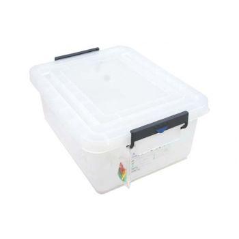 Conteneur alimentaire en polypropylène avec clips de couleur Araven 40L