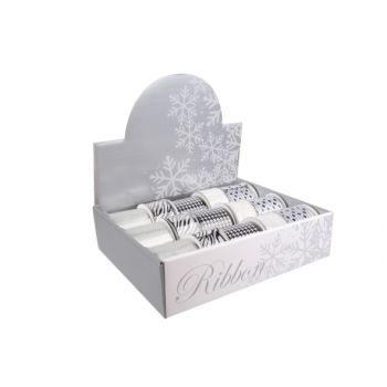 Cosy @ Home Display Rubans Blanc Noir Arg Set15 5 Types
