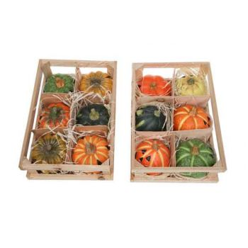 Cosy @ Home Set Deco Citrouilles 6pcs 2 Types Ceramique