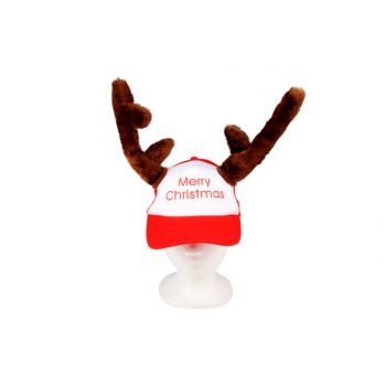 Cosy @ Home Casquette Renne Merry Christmas Rouge
