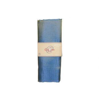 Cosy @ Home Etoffe Deco 3x1,5m Bleu Petrol Organza