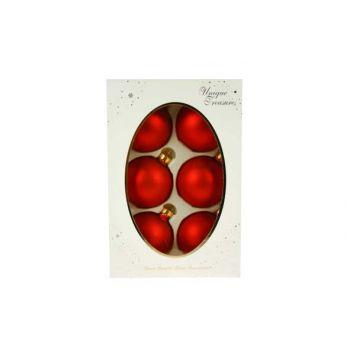 Cosy @ Home Boule Verre 6pcs 67mm Rouge  Matte