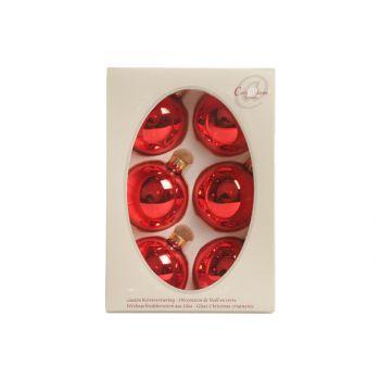 Cosy @ Home Boule Verre 6pcs 67mm Rouge Brillant