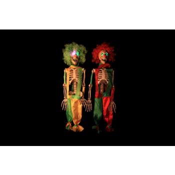 Cosy @ Home Squelette Clown Rouge Vert Led 2 Types 75cm