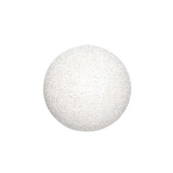 Cosy @ Home Boule De Neige Blanc Glitter 35cm
