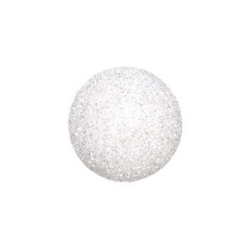 Cosy @ Home Boule De Neige Blanc Glitter 15cm