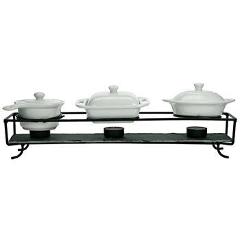 Cosy & Trendy Set Chauffe Plat + 3 Pots Porc