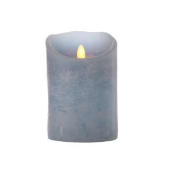 Cosy @ Home Bougie Cylindere Led Bleu 10xh15cm