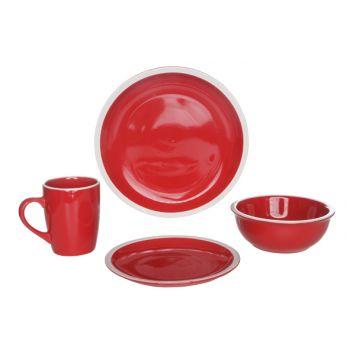 Cosy & Trendy Inca Set De Table Set16 Rouge