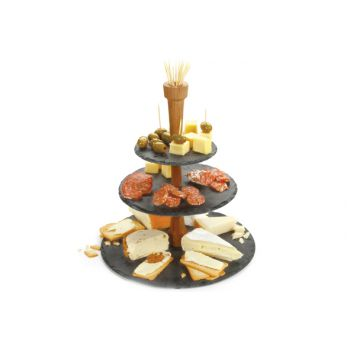 Boska Ardoise Party Tower Fromage 3 Niveaux 36