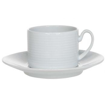 Costa Verde Berlin Blanc Set Tasse A Tea+scoupe