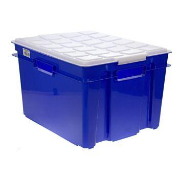 Cosy & Trendy Box Hobby A/couvercle Bleu 43x35x26cm