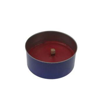 Finnmart Stone S2 Bougie Noir-rouge D10x4.5cm