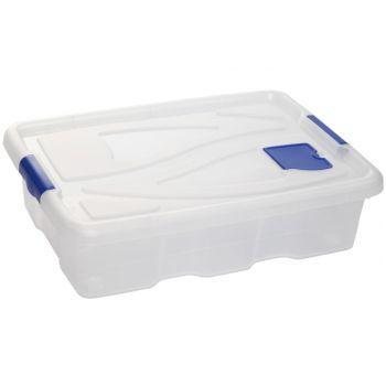 Hega Hogar Box Transparant A/rouleaux-28l