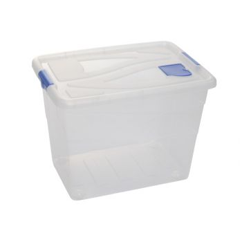 Hega Hogar Box Transparant A/ Rouleaux - 80l