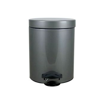 Meliconi Seau A Pedale Deluxe Metal 5l Anthracite