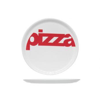 Cosy & Trendy Assiette Blanc 'pizza' Red D29cm