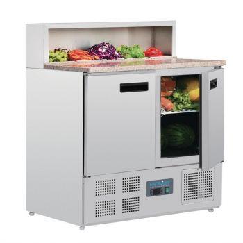 Comptoir de préparation réfrigéré à pizzas 288L Polar Série G