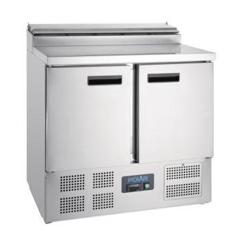 Comptoir de préparation réfrigéré pizzas salades 254L Polar Série G