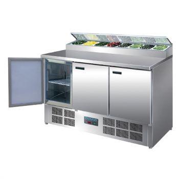 Comptoir de préparation réfrigéré pizzas et salades Polar Série G 390L