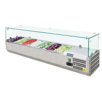 Vitrine à ingrédients réfrigérée Polar Série G 7x GN1/4