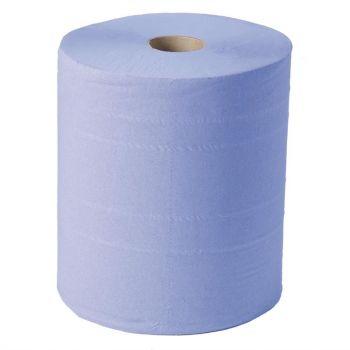 Maxi bobine d'essuie-mains 2 plis Jantex bleu