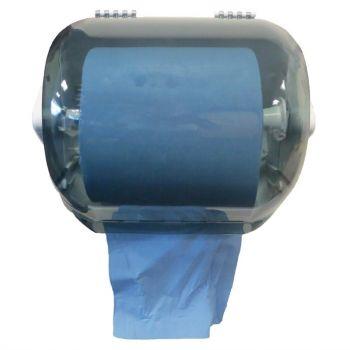 Distributeur en plastique d'essuie-mains Jantex bleu