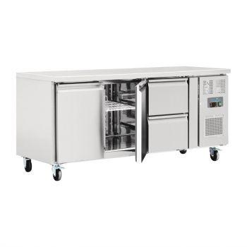 Table réfrigérée 2 portes 2 tiroirs 417L Polar Série U