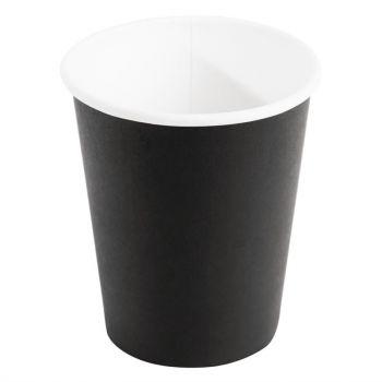 Gobelets jetables boissons chaudes Fiesta noirs 225ml x1000