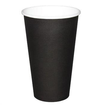 Gobelets jetables boissons chaudes Fiesta noirs 450ml x50