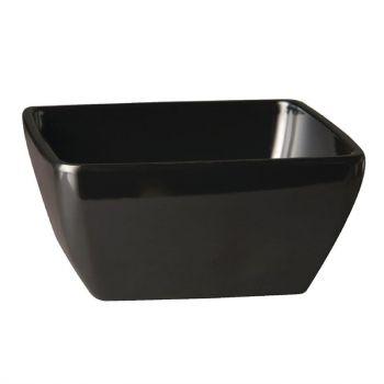 Bol carré en mélamine APS Pure noir 190mm