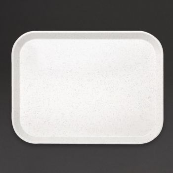 Plateau self-service en fibre de verre Kristallon gris clair 305 x 405mm
