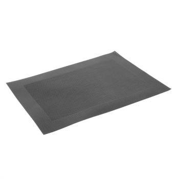 Set de table en PVC tissé Olympia noir
