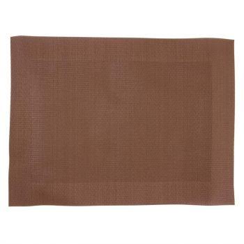 Set de table en PVC tissé Olympia marron