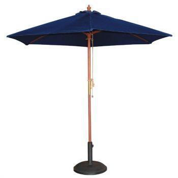 Parasol rond Bolero 2;5m bleu marine