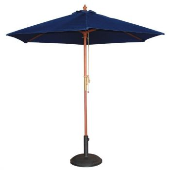 Parasol rond Bolero 3m bleu marine