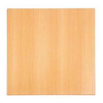 Plateau de table carré Bolero effet hêtre 700mm