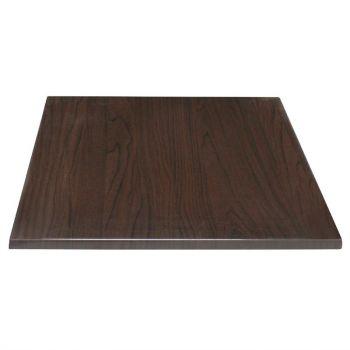 Plateau de table carré Bolero marron foncé 700mm