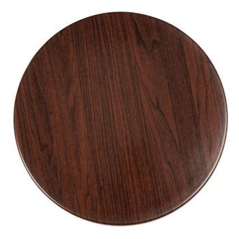 Plateau de table rond Bolero 600mm marron foncé