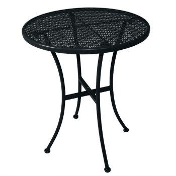 Table bistro ronde en acier ajouré Bolero noire 600mm