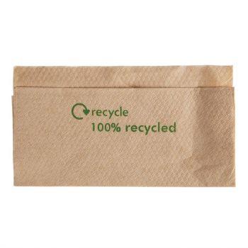 Serviettes 1 pli en papier recyclé 320x 300mm avec distributeur