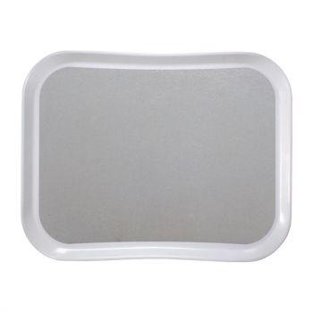 Plateau en polyester Century Fun Cambro Versa Lite 43 cm gris perle
