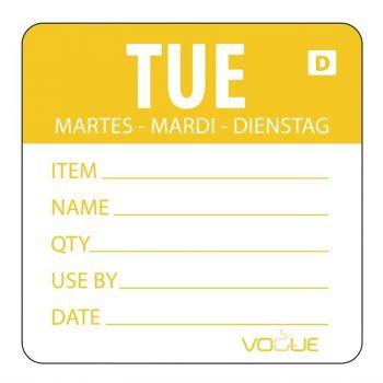 Etiquettes solubles Vogue jour de la semaine Mardi