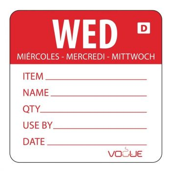 Etiquettes solubles Vogue jour de la semaine Mercredi