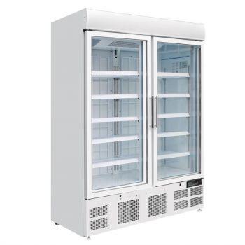 Vitrine réfrigérée négative deux portes avec bandeau lumineux Polar Série G 920L