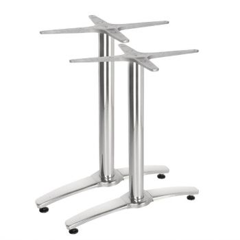 Pied de table double aluminium Bolero