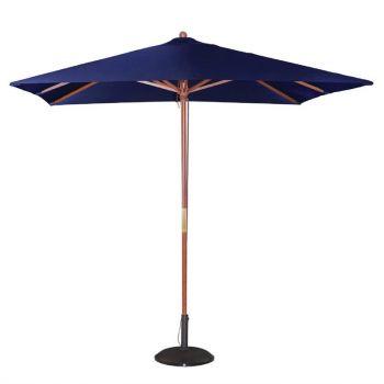 Parasol carré Bolero 2;5m bleu marine