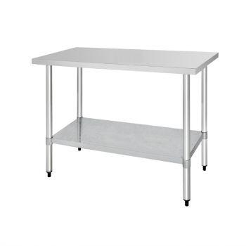 Table en acier inoxydable sans rebord Vogue 1800 x 700mm