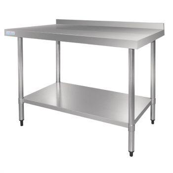 Table en acier inoxydable avec rebord Vogue 1500 x 700mm